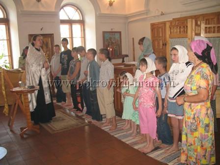 Крещение воспитанников интерната